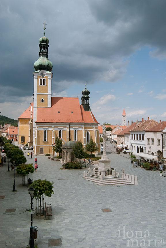 Jurisics Platz in der Altstadt von Güns