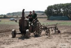 Historischer Pflug beim Dreschkirtag in Rechnitz
