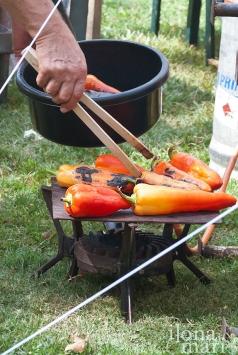 Paprika wird beim Lecsó Festival angebraten