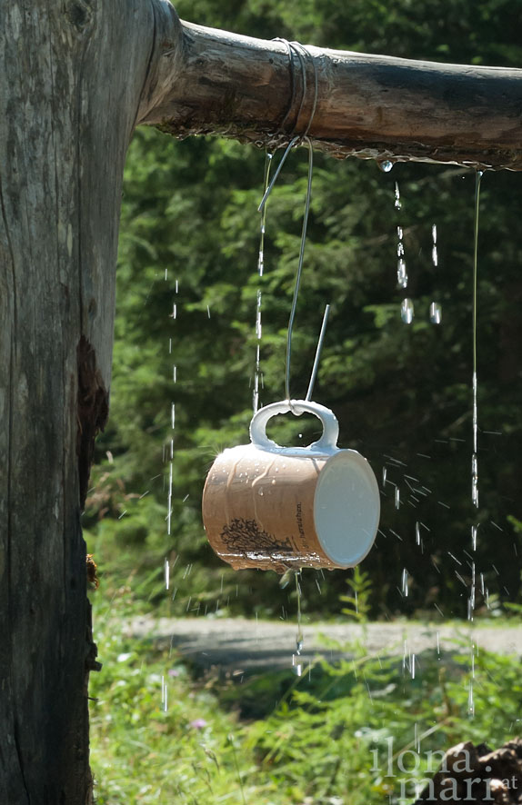 Einladung zur Erfrischung bei der Wanderung in den Lienzer Dolomiten