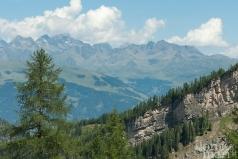 Aussicht während der Wanderung in den Lienzer Dolomiten
