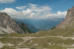 Aussicht von der Karlsbader Hütte in den Lienzer Dolomiten
