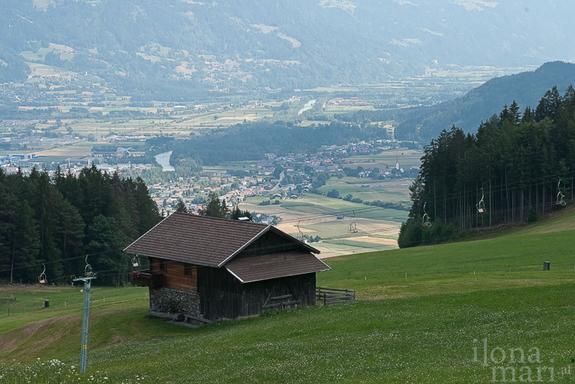 Blick vom Hochstein ins Tal bei Lienz.