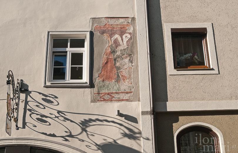 Fresko auf einer Fassade