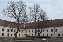 Innenhof im Nádasdy Schloss von Sárvár