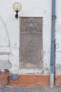 Gedenkstein der Wittelsbacher im Nádasdy Schloss von Sárvár