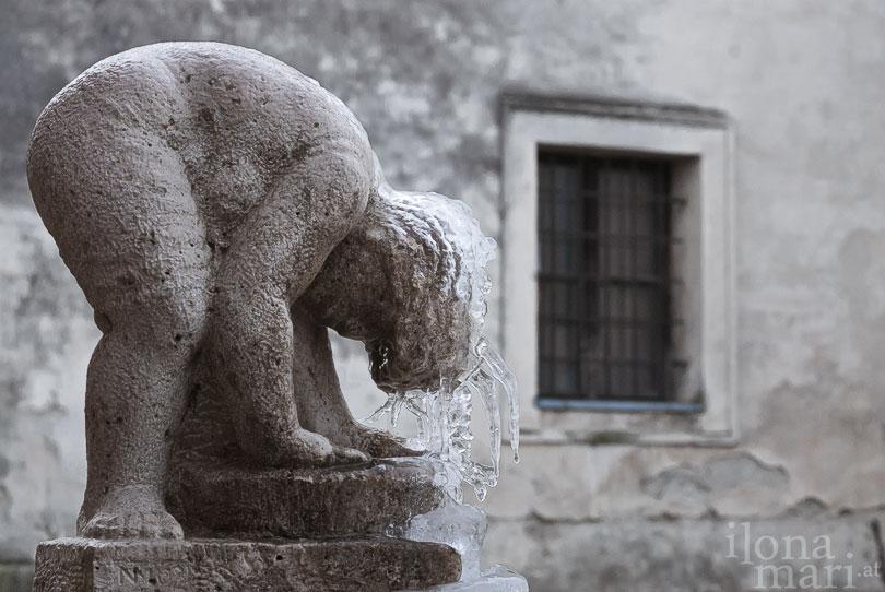 Skulptur von Németh Mihály im Nádasdy Schloss von Sárvár
