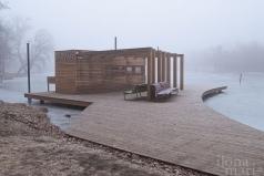 Bootshaus in der Teichlandschaft von Sárvár