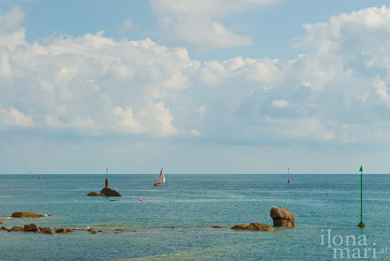 Blick von Barfleur aufs Meer